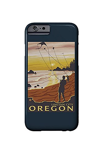 Beach and Kites - Lincoln City, Oregon (iPhone 6 Cell Phone Case, Slim Barely There)