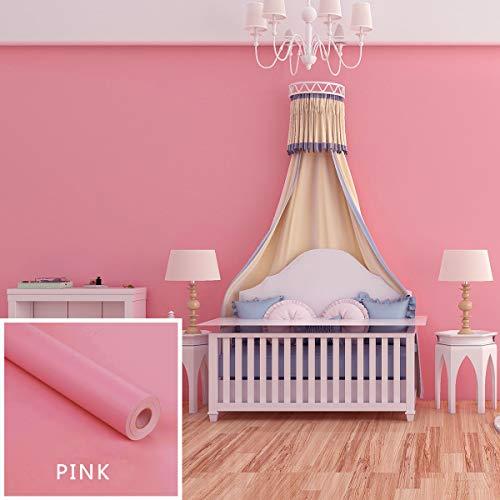 Amphia - Kind Farbe Glänzende Möbel Refurbished Aufkleber PVC Removable Wallpaper Home Deco - Selbstklebender Lackaufkleber -Pink,Schwarz,Rot,Gelb,Grau,Orange,Blau,Grün/ 60 * 40CM (Halloween Wallpaper Pink)