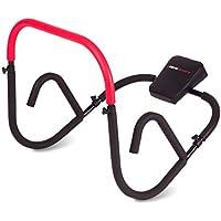 Ultrasport AB Trainer Aparato de abdominales, entrenamiento efectivo de los abdominales en casa, aparato con reposacabezas blando, plegable y compacto, AB-Roller, aparato para perder grasa abdominal