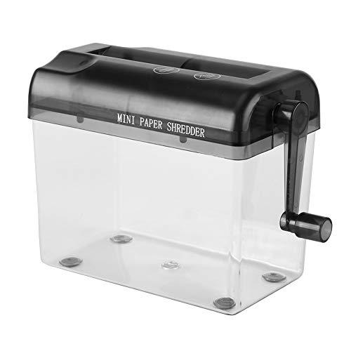 Romdink Tragbare Mini-Aktenvernichter Cross Cut Home-Office-Hand-Hand-Aktenvernichter-Papier-Werkzeug-Büro-Schreibtisch-Aktenvernichter-Hand, 3700 (black) - 3700 Papier