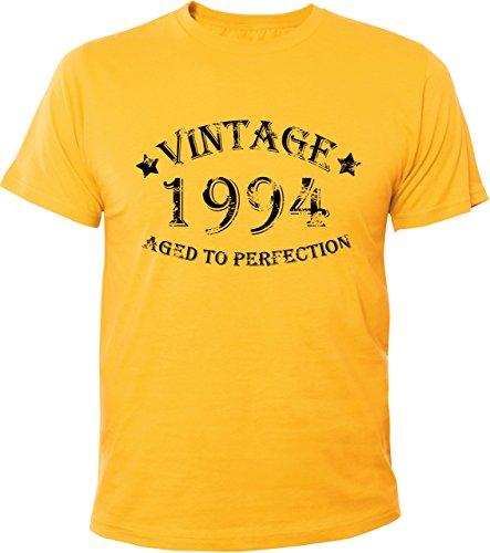 Mister Merchandise Cooles Herren T-Shirt Vintage 1994 Aged To Perfection 20 Jahre Geburtstag Years Gelb
