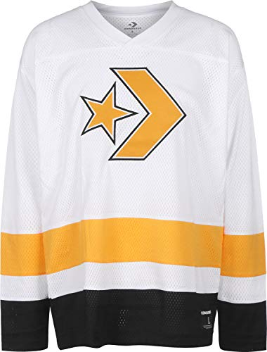 Converse Hockey Jersey White - Camiseta, Hombre, Blanco(White)
