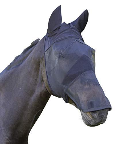 Kerbl Máscara antimoscas pura sangre, incl. protector para el dorso de la nariz y orejeras