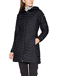 Columbia Mujer Powder Lite MID Outdoor abrigo, Otoño-invierno, mujer, color negro, tamaño large