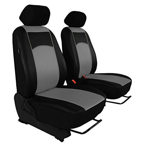 Preisvergleich Produktbild Autositzbezüge, Sitzbezüge Set, BUS 1+1 in ECO-Leder passend für VW T4 in 7 Farben. In diesem Angebot GRAU . Komplett besteht aus: Fahrersitz + Beifahrersitz + Kopfstützen + Montagehäckchen
