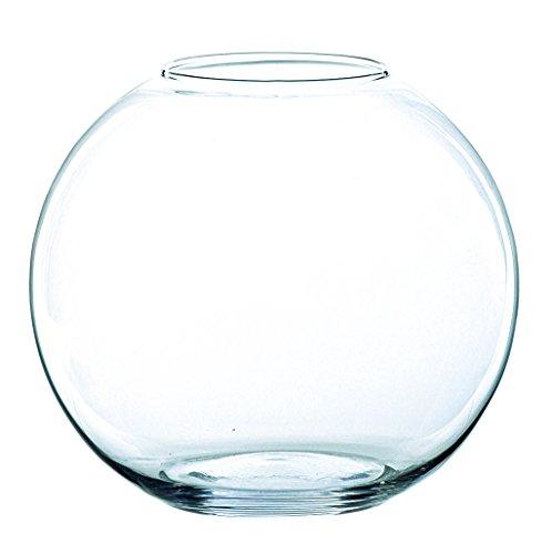 Kugelvase TOBI aus Glas, klar, 20,5 cm, Ø 25 cm - Deko Kugelvase / Teelichthalter - INNA Glas