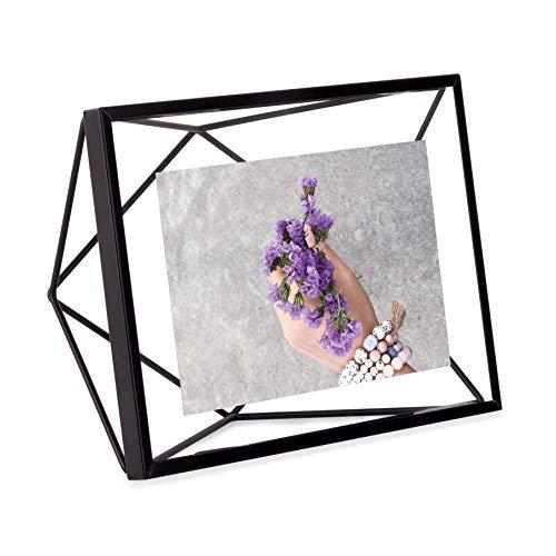Umbra Prisma Bilderrahmen, Metall, Schwarz 10x15 - Art-deco-messing-tisch
