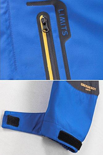 Mochoose Donna Outdoor Mountain Impermeabile Windbreaker Softshell Giacche con Cappuccio Sci Sportwear Rain Coat Campeggio Pesca Caccia Working Jacket Rosso