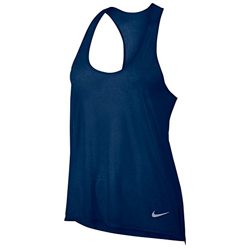 Nike W nK brthe Cool T-shirt, femmes Binary Blue