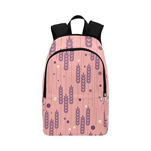 Gold Ohren von Weizen und Getreide Casual Daypack Reisetasche College School Rucksack für Männer und Frauen -
