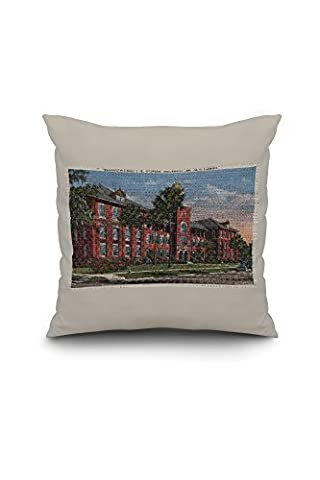 Deland, Florida - Stetson University, Elizabeth Hall (18x18 Spun Polyester Pillow Case, Custom Border)