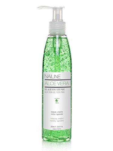 Nailine Aloe Vera Gel 100% Pure, FOR SUNBURN, DRY, IRRITATED SKIN, AFTER DEPILATION OR SHAVING, 250ml