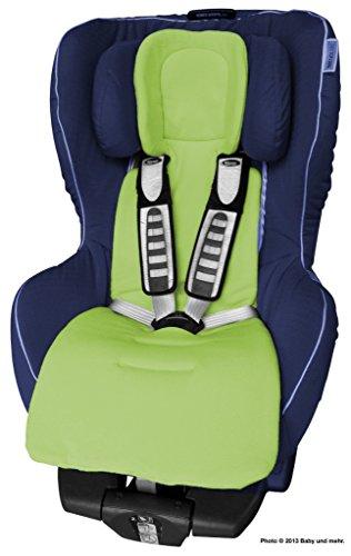 ByBoom - Sitzauflage / Sitzeinlage COMFORT mit Sommer- und Winterseite, Universal für Autokindersitz Gr. 0, 0+, I, II, III z.B. für Römer, Maxi-Cosi, für Kinderwagen und Buggy, Farbe:Limette