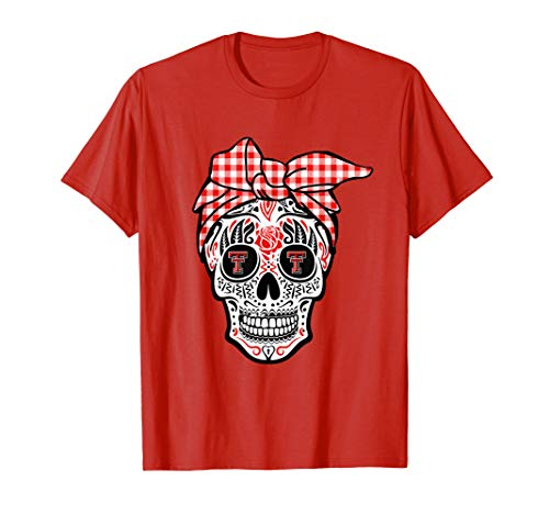 Texas Tech Red Raiders Sugar Skull T-Shirt - Apparel -