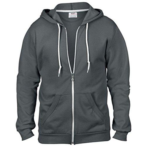 Anvil Herren Modern Sweatshirt Gr. XX-Large, anthrazit (Anvil Short Shirt Sleeve Polo)