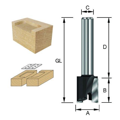 ENT Planfräser HW (HM), Schaft (C) 12 mm, Durchmesser (A) 30 mm, B 12 mm, D 40 mm, GL 52 mm
