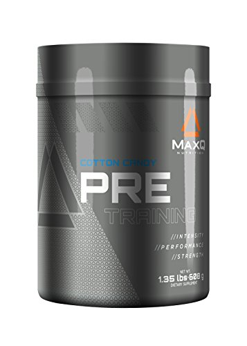MaxQ Nutrition PRE-Training Pre-Workout-Pulver, Energy-Drink-Ergänzung w / Kreatin, BCAAs, Beta-Alanin, Arginin, Tyrosin und vieles mehr. Name des Geschmacks, 20 Portionen. (Zuckerwatte)