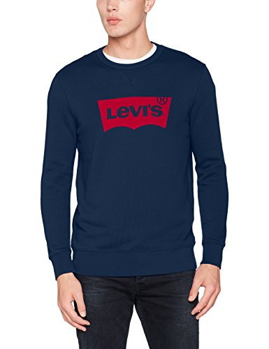 Levi's Herren, Sweatshirt, Graphic Crew B Blau (Hm Fleece Dress Blues 29)
