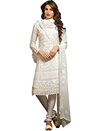 Om Ethenic Dress/Casual Suit/Formal Suit In Cotton Fabric In White Colour For Girls/Womens