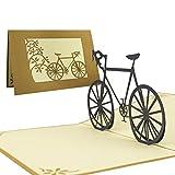 Fahrrad Pop Up Karte, Sammelkarte, Fahrradgutschein, Fahrradtour, 3D Pop-Up-Karte, Gutschein Fahrrad, T05
