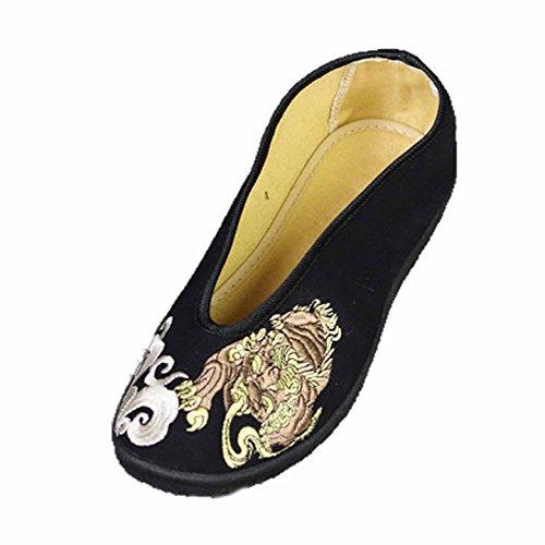 CHNHIRA Herren Kung Fu China National Schuhe Schwarz