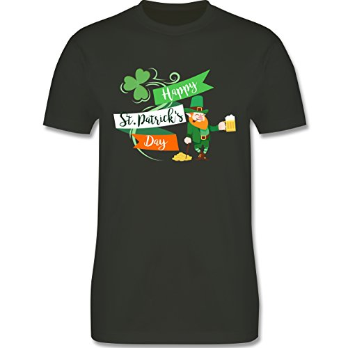 St. Patricks Day – Happy St. Patricks Day Kobold – Herren T-Shirt Rundhals