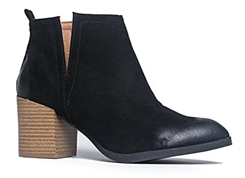 Barry Western Ankle Bootie, Black PU, 7.5 B(M) US