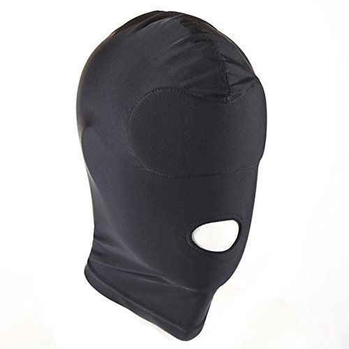 ADESUGATA Maske Kostüm Haube Kopf Abdeckung Rolle Cosplay Maske CS Spiel Spielzeug für Halloween Maskerade Masken,Schwarz (Offener Mund)