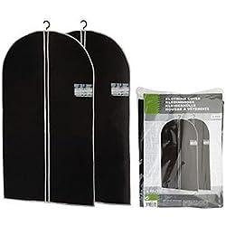 ASIS nettrade Super praktische Kleidersäcke Kleiderschutzhüllen - 2 Stück - 100 x 60 cm - für Lagerung und Transport