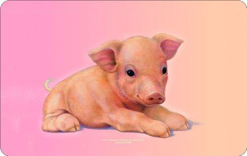 Rahmenlos® Frühstücksbrettchen - Schwein, Schweinchen- küchen- und lebensmittelgerechtes Resopal 23,5 x 14,5 cm