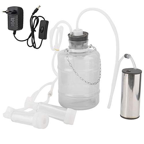 HEEPDD Elektrische Melkmaschine Kit, 3L Hohe Konfiguration Minitype Melkmaschine Elektrische Haushaltsziege Schaf Kuh Melkmaschine mit Vakuum-Impulspumpe(für Goat EU Plug) -