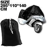 SODIAL(R) CUBIERTA CUBIERTA MOTO Cubierta de la motocicleta ATV Tamano XXXL grande negro de deportes de plata modelo de proteccion ex.Harley