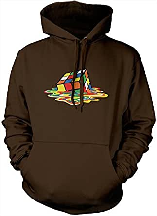 HotScamp Premium Melting 80's Puzzle Cube Art Hoody Many Colours All Sizes Hoodie S M L XL XXL (Small, Hot Chocolate)