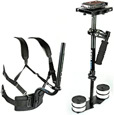 Flycam FF-3000-BP Camera Stabilizer Body Pod with Support Belt and Carry Bag for Sony/Nikon/Canon/DSLR/DV (Black)