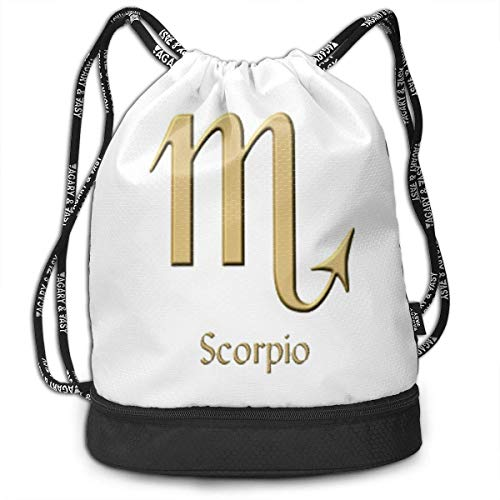 876d0a7197bed BAOQIN Funny Dance Gift Unisex Drawstring Fashion Beam Backpack Scorpio  Print Backpack Travel Gym Tote Cosmetic Bag