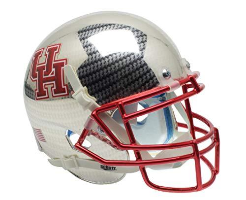 Schutt NCAA Houston Cougar Karbonfaser bei Chrom Mini Helm, eine Größe, weiß
