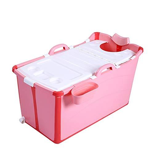 YONGJUN Vasca da Bagno Pieghevole, Isolamento per Bambini per Uso Domestico Vasca da Bagno in Plastica Facile da Sistemare Vasca da Bagno Rosa/Blu (Colore : Rosa)