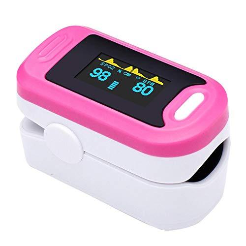Pulsoximeter, Fingeroximeter - Oximeter Finger mit Zweifarbiges OLED Display, 6 Anzeigemodi, Geringen Stromverbrauch, Klein und Leicht 4 Richtungen, Spannungswarnung, Automatisches Herunterfahren,