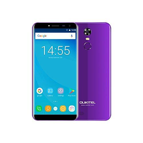 OUKITEL C8 - 5,5' 3G Smartphone Libres, 18: 9 Pantalla de Arco 2.5D, Android 7.0 Quad Core 2GB+16GB, Sensor de Huella...