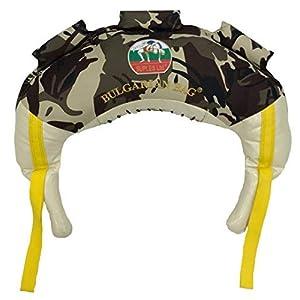 Bulgarian Bag–Camouflage–suples (Das Original) + Workout-DVD (Fitness, Crossfit, Wrestling, Judo, Grappling, Funktionelles Training, MMA, Sandsack, Gewichtete Sporttasche, Cardio-, Kraft).