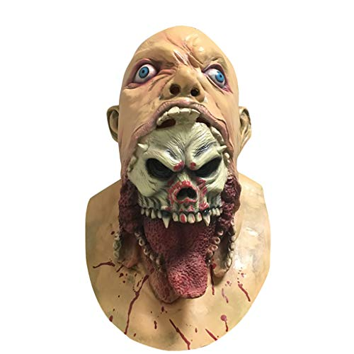 ken, Bloody Zombie Maske Melting Gesicht Erwachsene Latex Kostüm Walking Dead Halloween Scary Maske Horror Adult Kostüm Zubehör ()