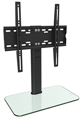 RICOO Base stand for TV stand FS304W TV stand Pendant arm Supports not Tilt and Swivel 3D OLED LED LCD Plasma 4K Curved VESA 400x400 Universal for TV White