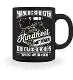 Shirtee Lokführer Zugführer Eisenbahner Eisenbahn Zug Züge Lok Geschenk - Tasse -M-Schwarz