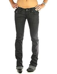 Laguna Beach - Jeans straight negro Caspitrano Beach Luxus para mujer