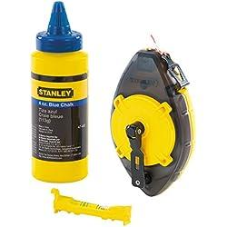 Stanley Powerminder Kit cordeau + poudre à tracer bleue 113 g (Import Grande Bretagne)