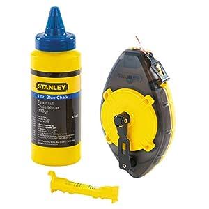41Ef%2BbOfs1L. SS300  - Stanley 0-47-465 Juego de Cordel para marcar Powerwinder con Tiza Azul