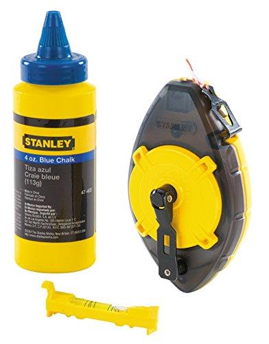 Stanley 0-47-465 Juego de Cordel para marcar Powerwinder con Tiza Azul
