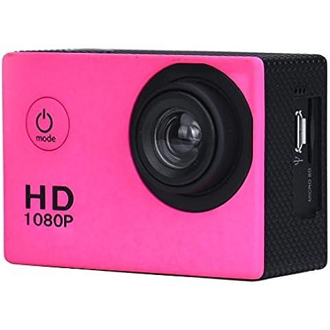 FEITONG Mini DV HD 1080P Deportes registrador del coche Acción impermeable videocámara de la cámara (rosa)