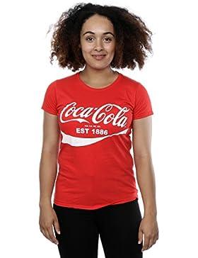Coca Cola Donna 86 Logo Maglietta Medium Rosso