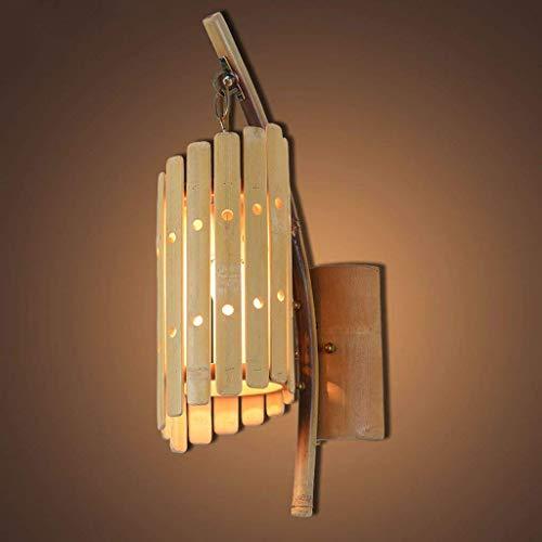 Bambus Wandleuchte, Retro Restaurant Store Dekoration Wandleuchte Korridor Gang Leichtes Kleid Shop CafÉ Beleuchtung Lampen Mit E27, Höhe 51 Cm (Größe : 51 Cm)